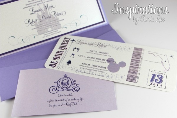 Disney Wedding Invitations Disney Wedding Invitations With The