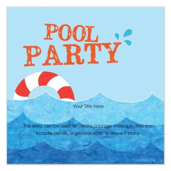 Diy Party Invitations Templates Free Free Pool Party Invitation