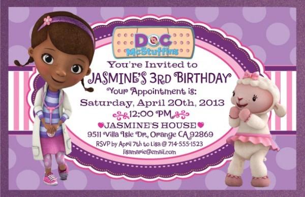 Doc Mcstuffi Superb Doc Mcstuffins Party Invitations