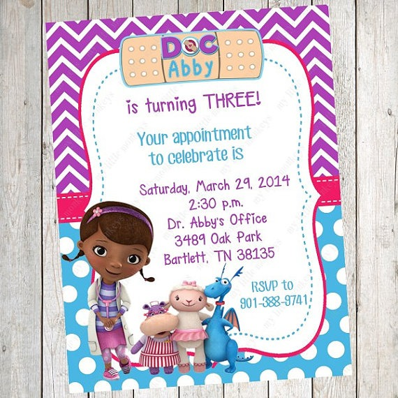 Doc Mcstuffins Invitations Great Doc Mcstuffins Invitation