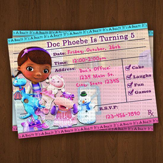 Doc Mcstuffins Party Invitations Trend Doc Mcstuffins Party