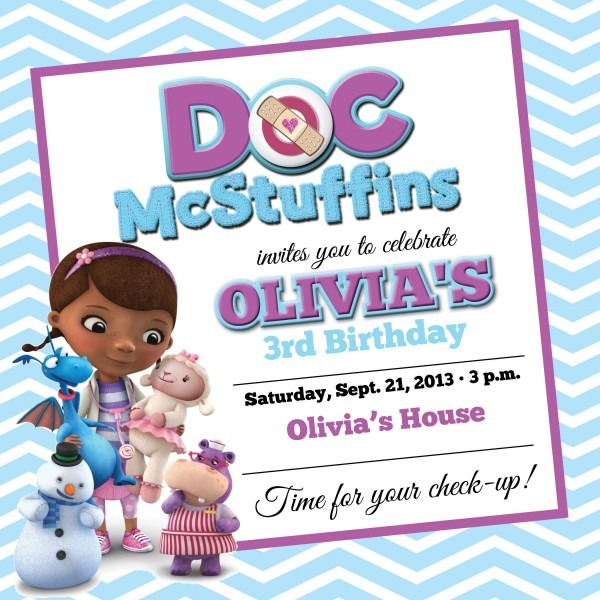 Doc Mcstuffins Party Invitations With Some Fantastic Invitations