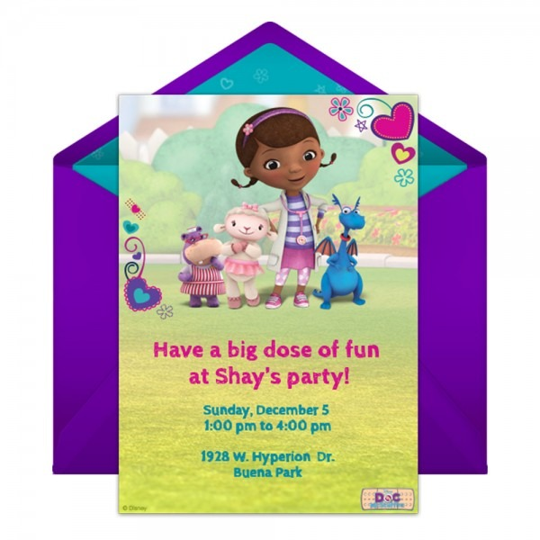 Doc Mcstuffins Party Online Invitation