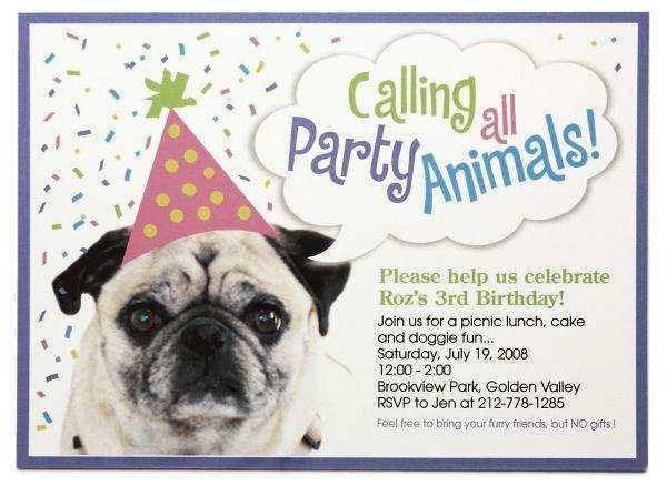 Dog Birthday Invitations Fresh With Dog Birthday Invitations