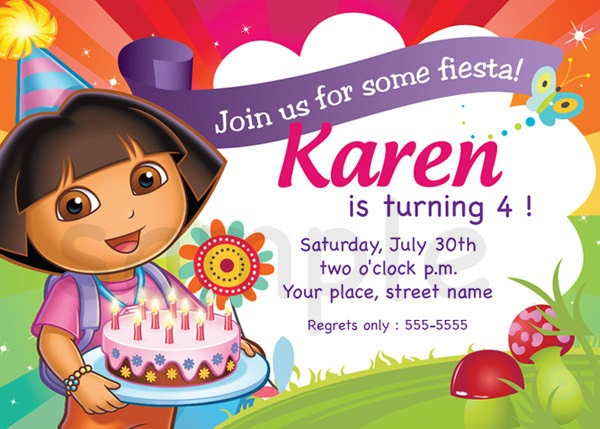 Dora The Explorer Invitations Templates Free