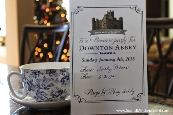 Of Sound Mind And Spirit  A Downton Abbey Season 5 Tea Party!