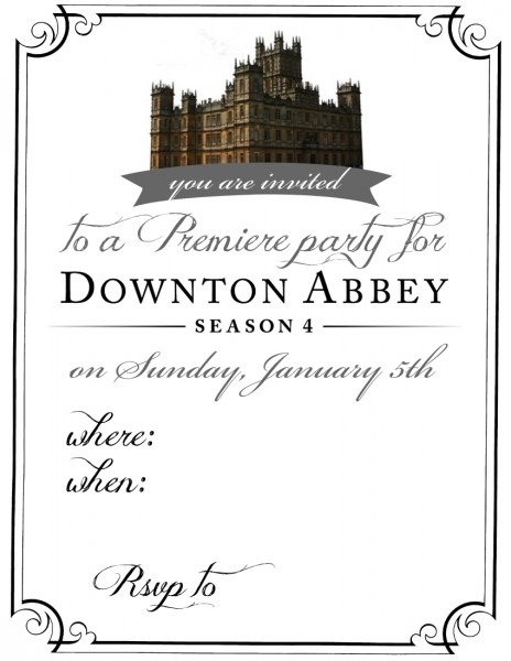 Downton Abbey Party Invitation Updated