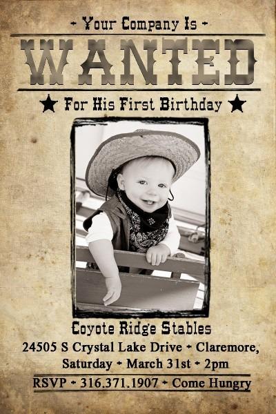 Drake's Wild West 1st Birthday Party!  Drake's Wild West 1st