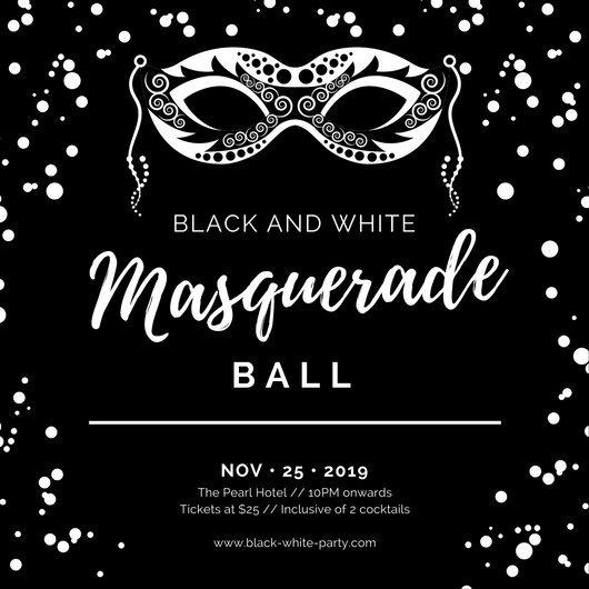 Black White Masquerade Ball Invitat Cute Black And White