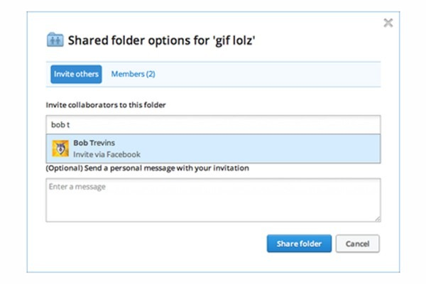 Dropbox Now Lets You Add Facebook Friends To Shared Folders