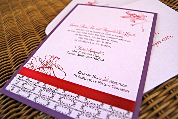 Orchid Inspired Wedding Invitations & Stationery