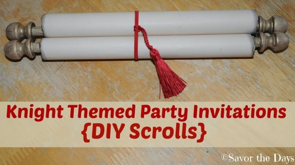 Savor The Days  Knight Themed Party Invitations