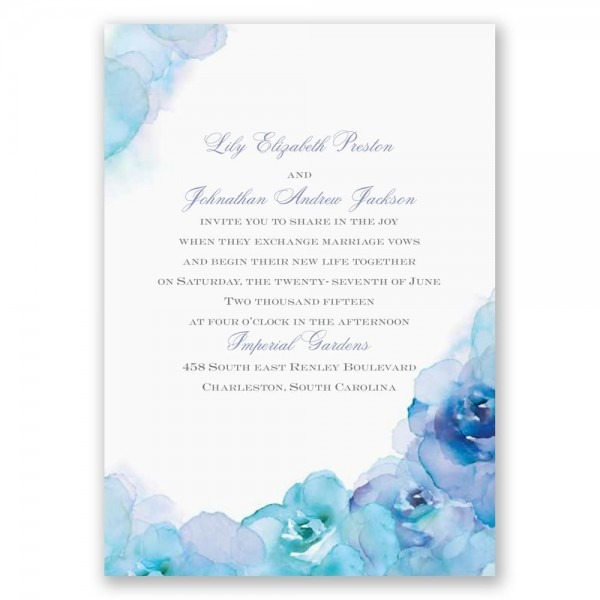 Watercolor Roses Invitation