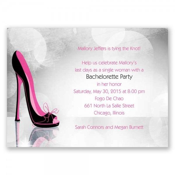 High Heel Bachelorette Party Invitation