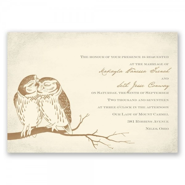 Owl Be Yours Invitation