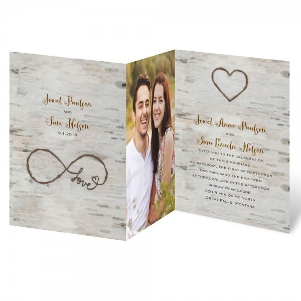 Love For Infinity Zfold Invitation