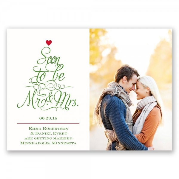Top The Tree Holiday Card Save The Date