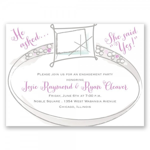 Wedding Bling Petite Engagement Party Invitation
