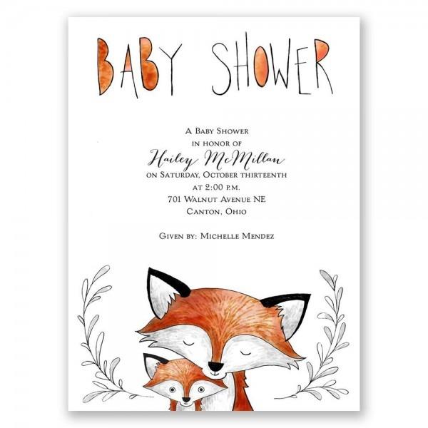 Fox Fun Petite Baby Shower Invitation