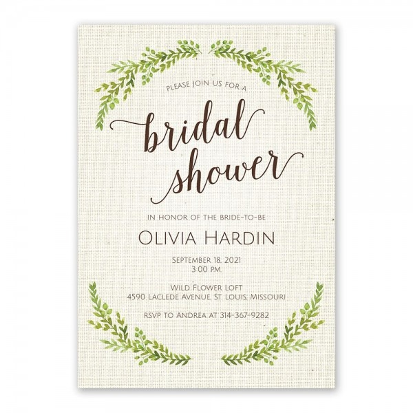 Botanical Bride Bridal Shower Invitation