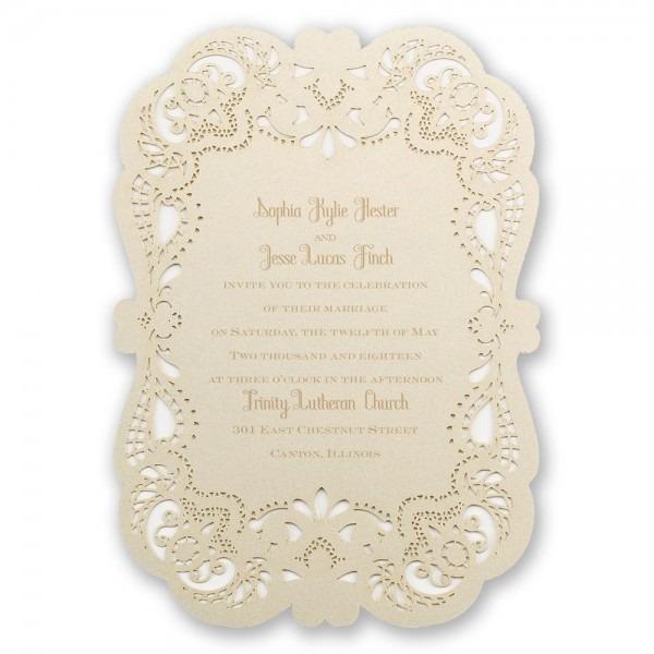 Opulent Lace Laser Cut Invitation