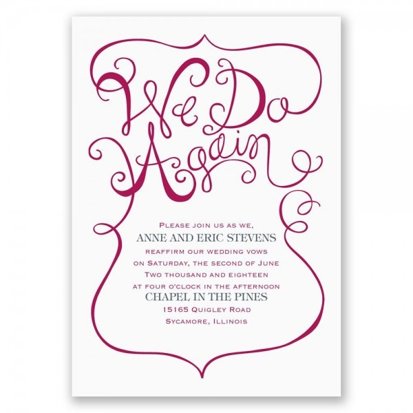 We Do Again Vow Renewal Invitation