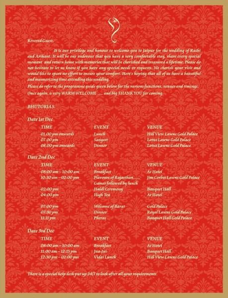 Marathi And English Lagna Patrika Sample Gujarati Wedding