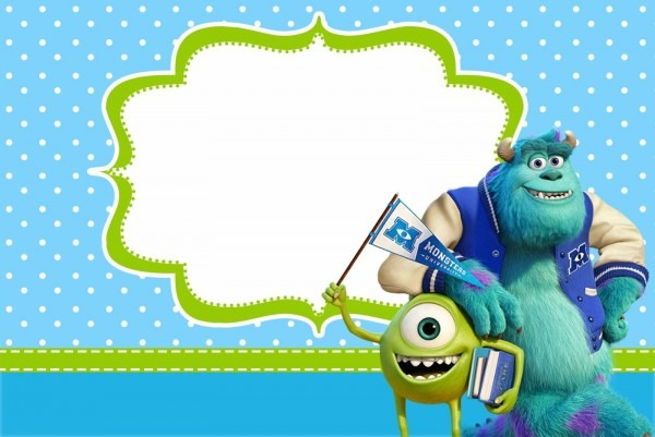 Monster University  Free Printable Party Invitations