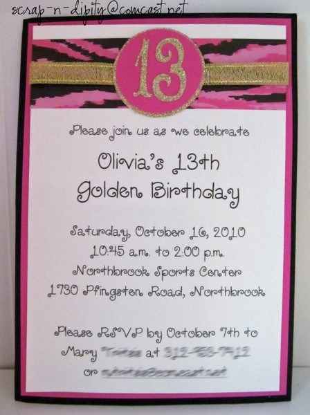 14 Best Olivia's Golden Birthday Images On Best Party Invitation Collection