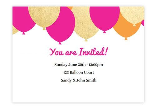 Invitation  E Invitation For Birthday