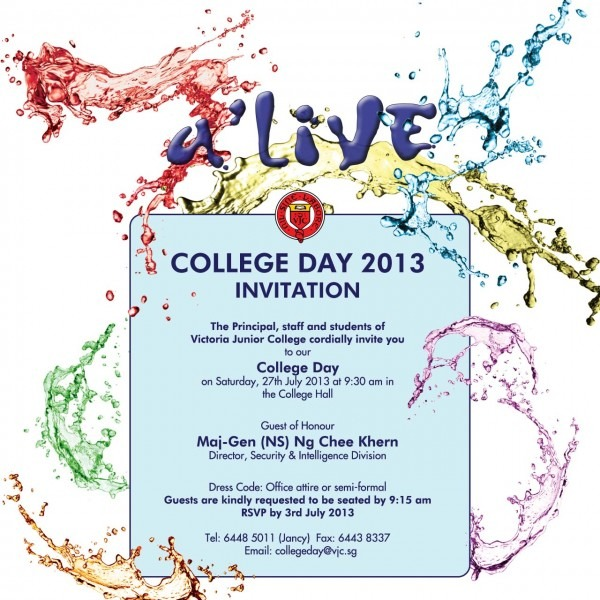 Invitation To Vjc College Day 2013