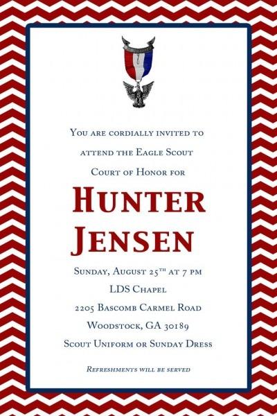 Eagle Scout Invitation Template Beautiful Eagle Scout Invitation