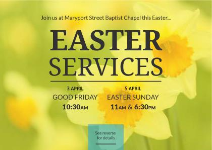 Easter Service Invitation Cards – Festival Collections