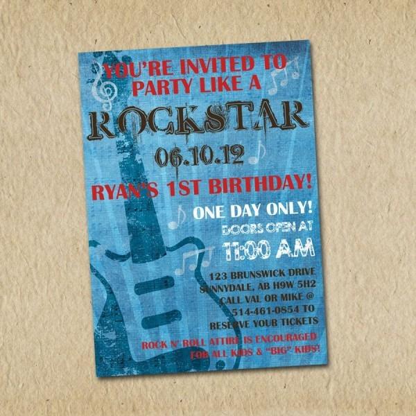Rockstar Birthday Invitation