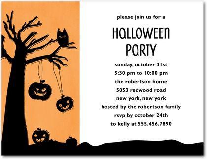 Halloween Invitation Templates Word Halloween Party Invitation