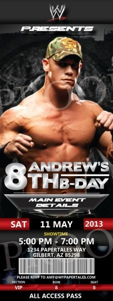 25 Best Wwe Birthday Images On Best Party Invitation Collection
