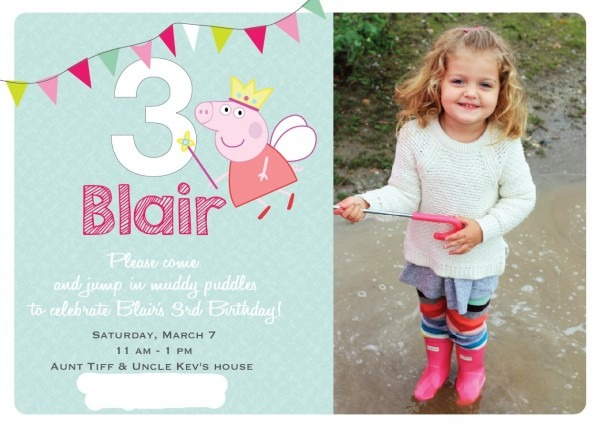 Nat Your Average Girl  Blair's 3rd Birthday {peppa Pig}