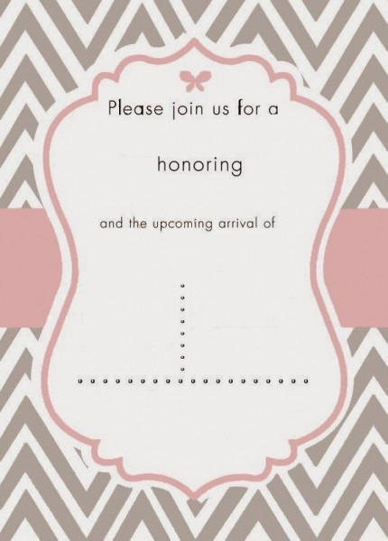 Invitation  Free Girl Baby Shower Invitation Templates