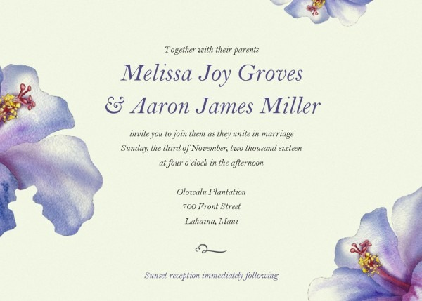 Electronic Wedding Invitations With E Invite Cards Popular E