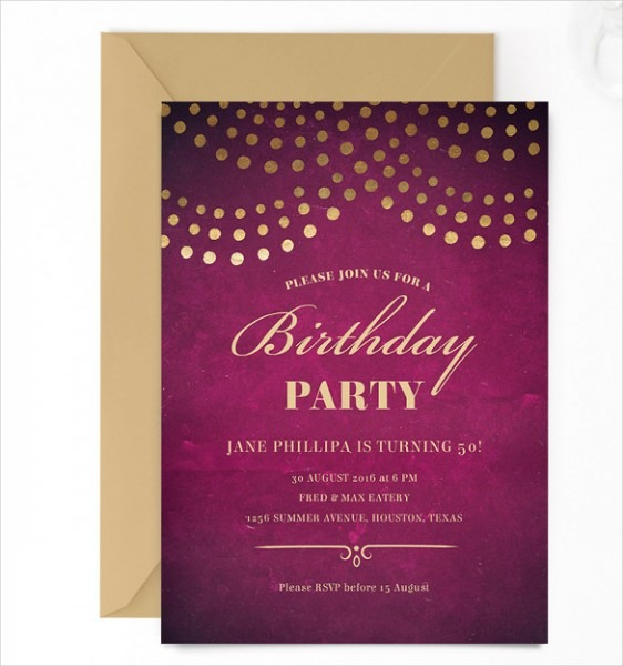 Birthday Party Email