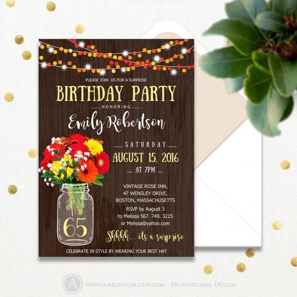 Elegant 65th Birthday Invitations 98 About Remodel Invitations