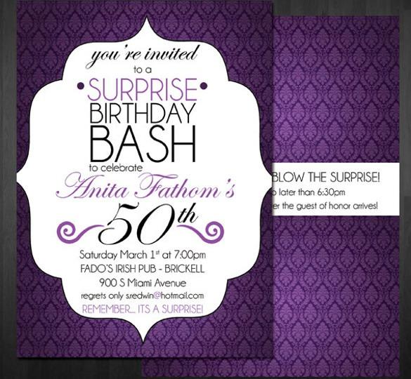 60th Birthday Invitation Templates Free Download  Birthday 60th