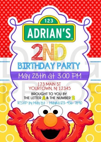 Elegant Elmo Birthday Party Invitations About Remodel Invitations