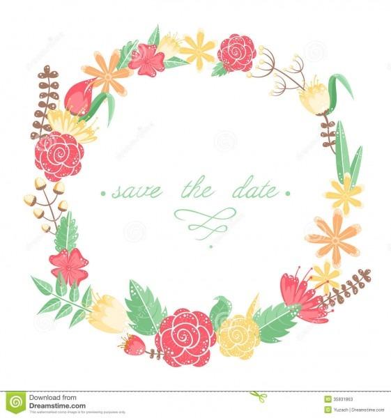 Elegant Floral Congratulation Card Stock Vector
