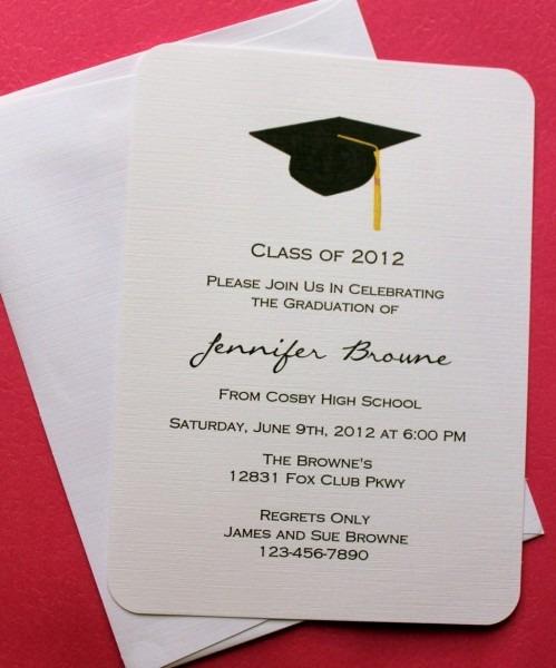 Elegant Graduation Invitations Cards 27 With Additional Invitation
