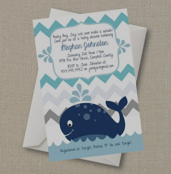 Elegant When To Send Out Baby Shower Invites Whale Invitation A