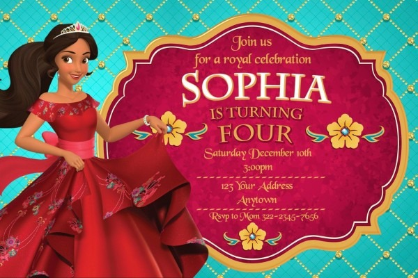 Elena Of Avalor Birthday Party Invitations Personalized You Print