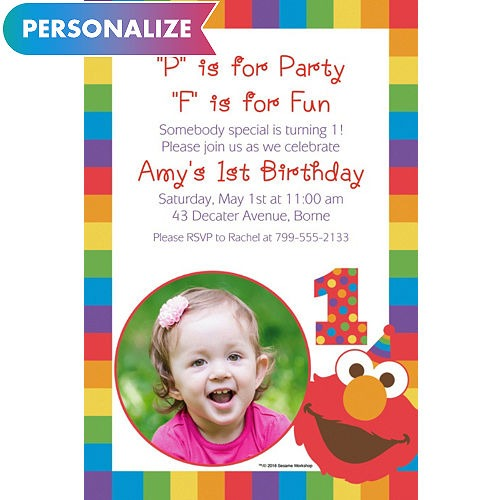 Elmo 1st Birthday Invitations Awesome With Elmo 1st Birthday