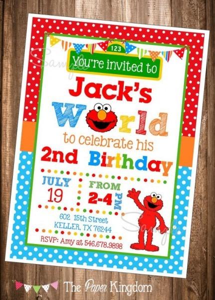 Elmo 2nd Birthday Invitations Fancy With Elmo 2nd Birthday