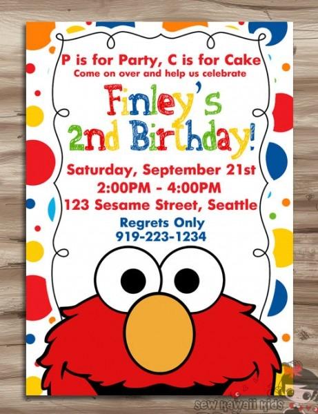 Elmo 2nd Birthday Invitations Trend With Elmo 2nd Birthday